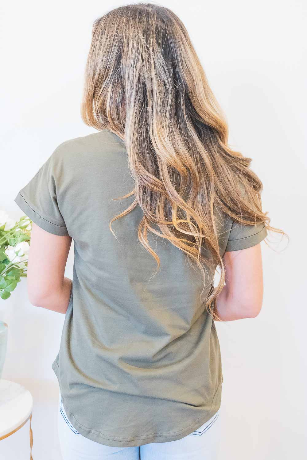 Lover Tee in Khaki
