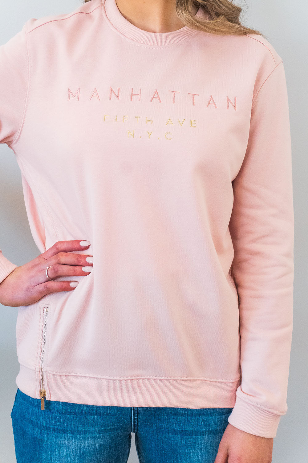 Manhattan Jumper in Blush