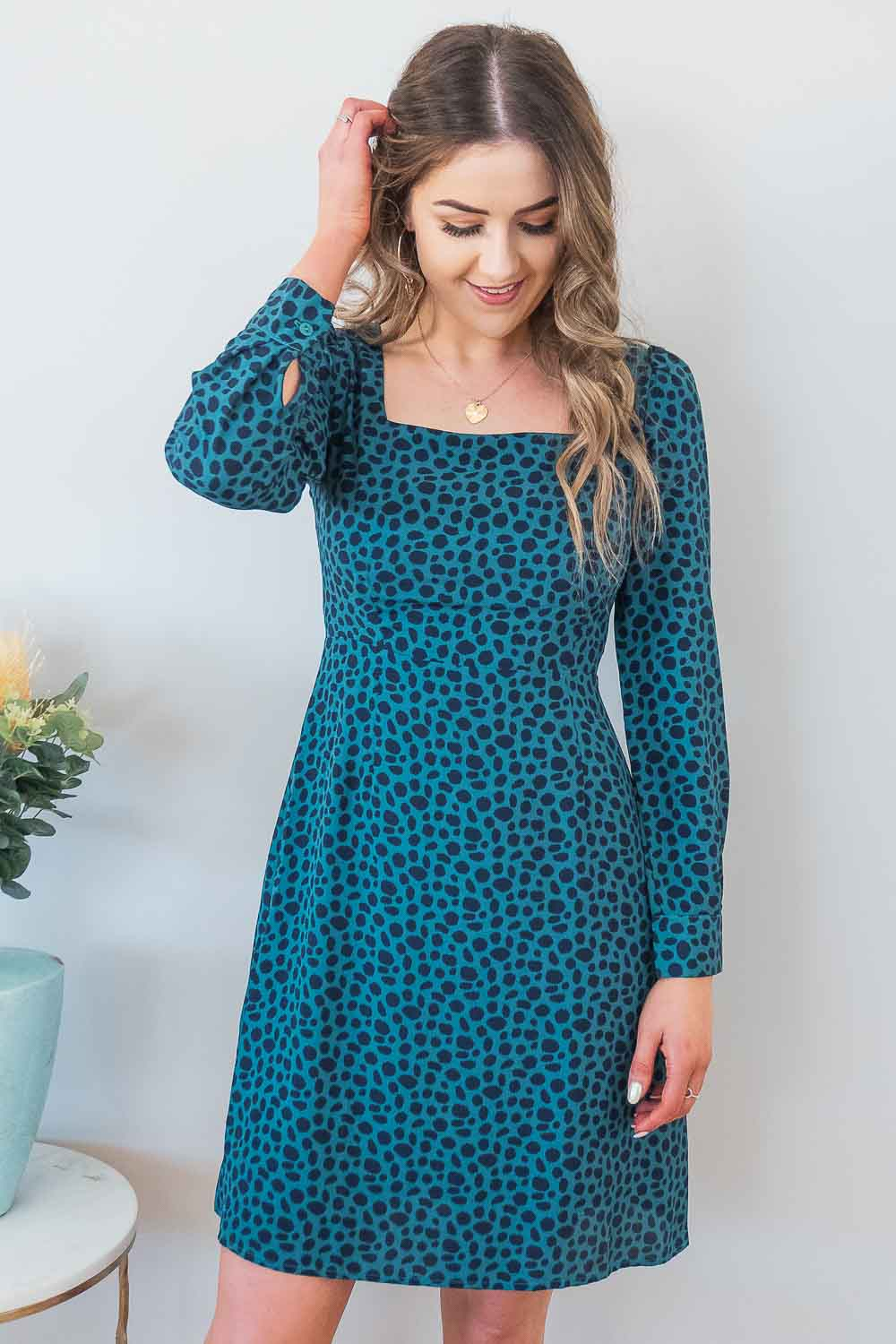 Viola Dress in Jade