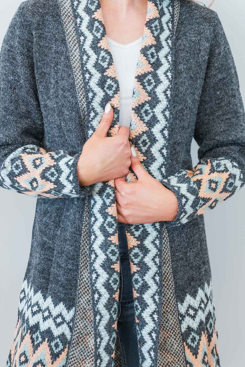 Willette Cardigan in Charcoal