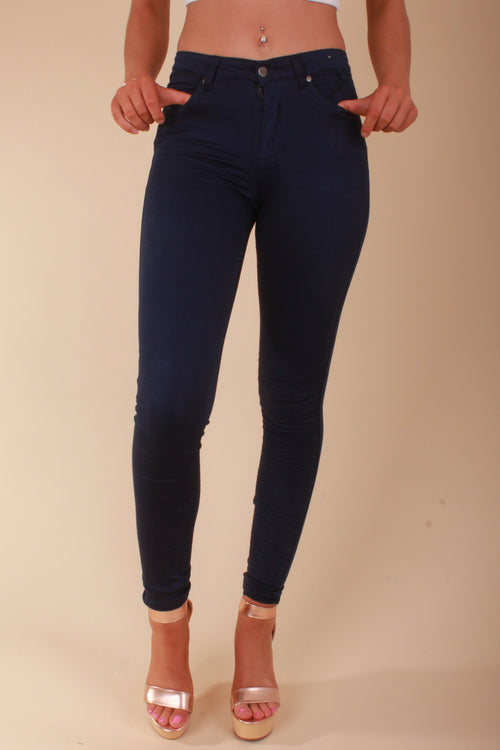 refuge high waist navy gelato legs