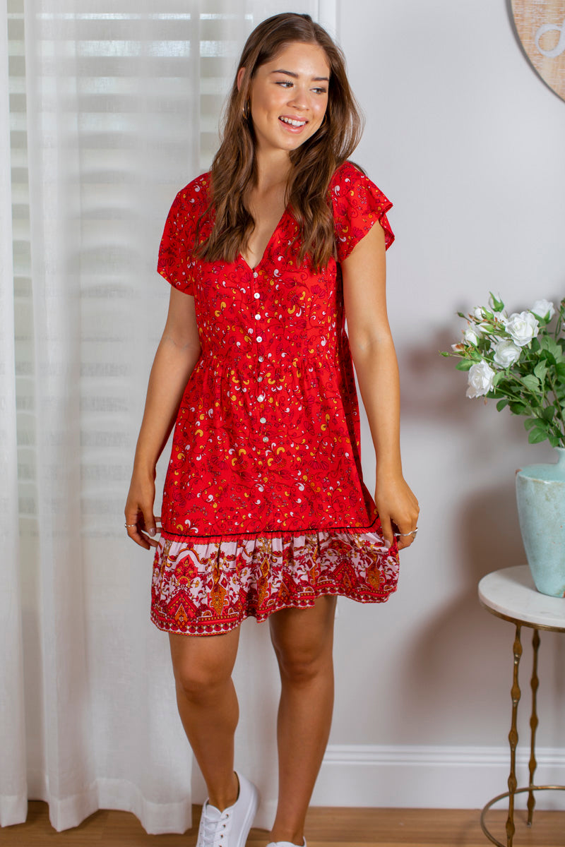 Lola Dress In Red
