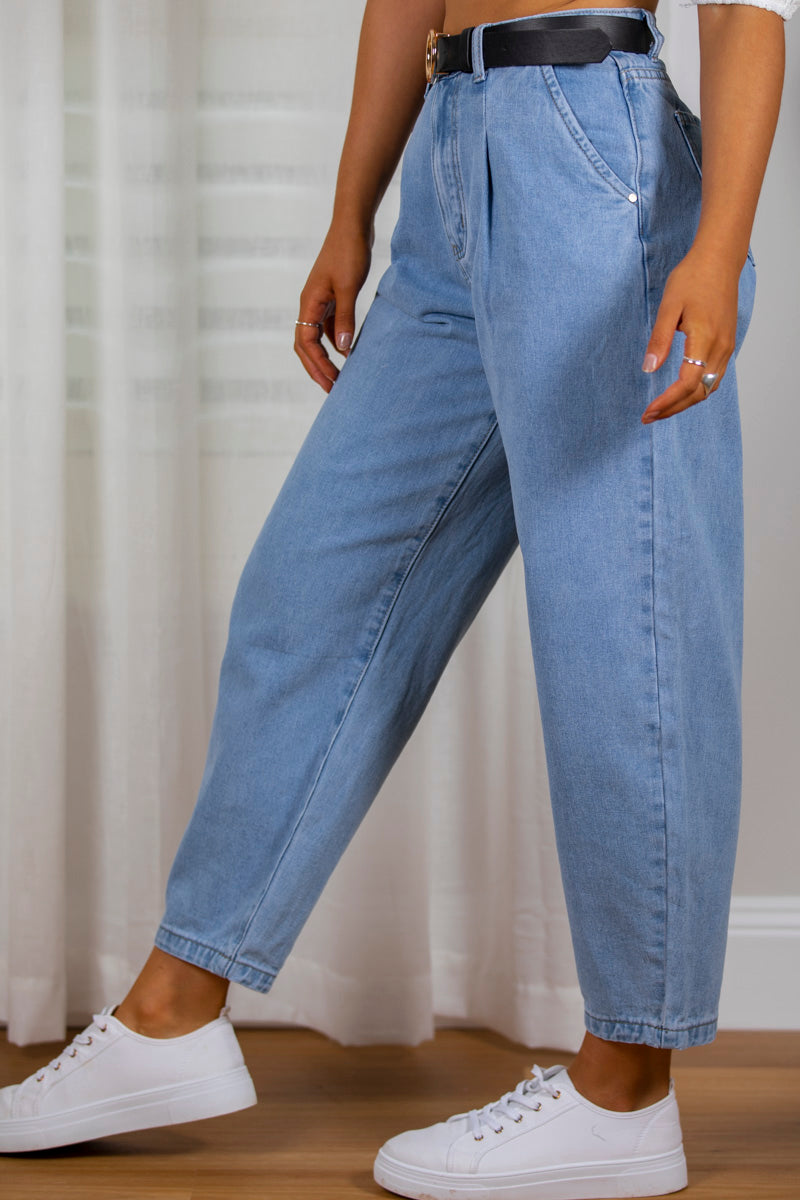 Teddy Jeans in Mid Denim