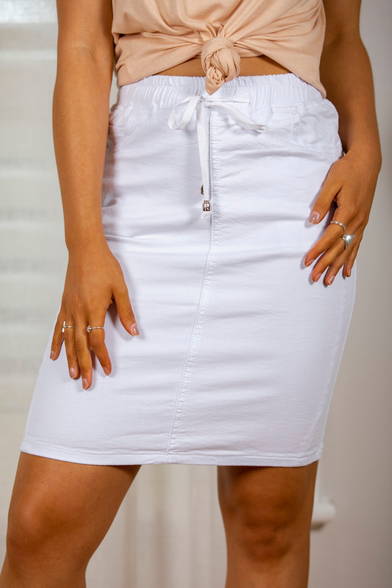Donna Skirt in White