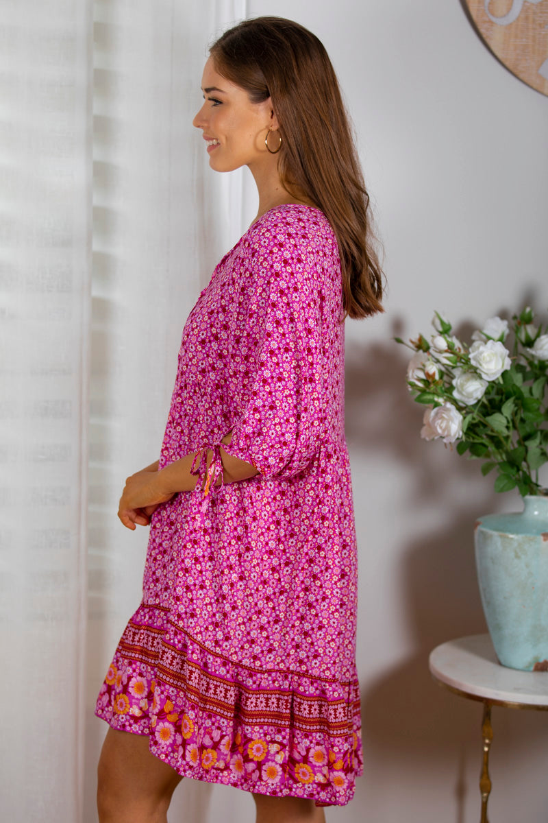 Talula Dress In Fuchsia