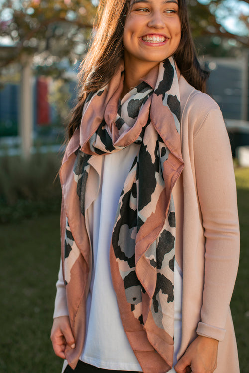 Monica Scarf in Blush