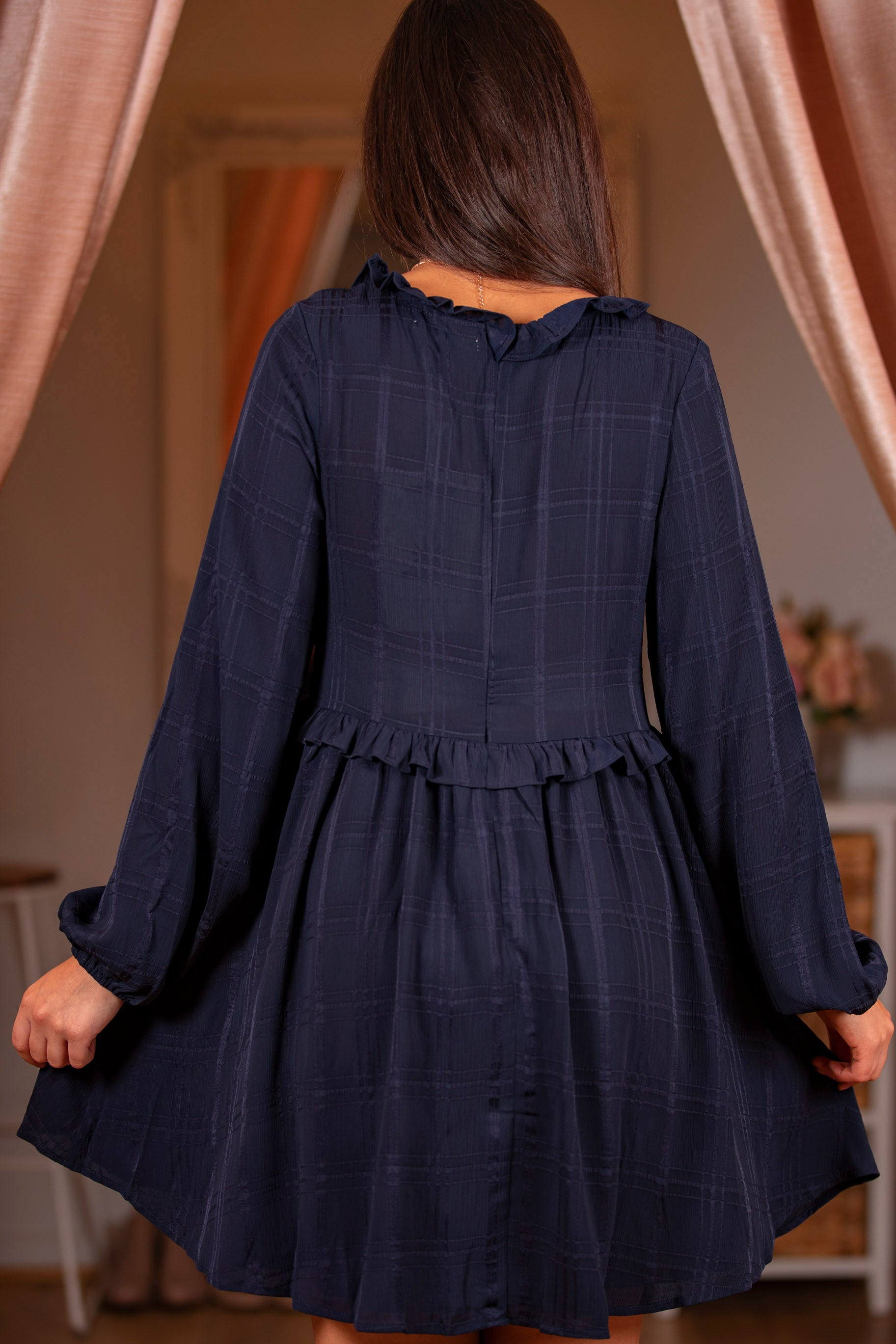 Rani Dress in Navy
