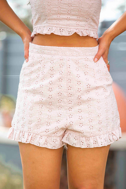 Kady Shorts in Blush