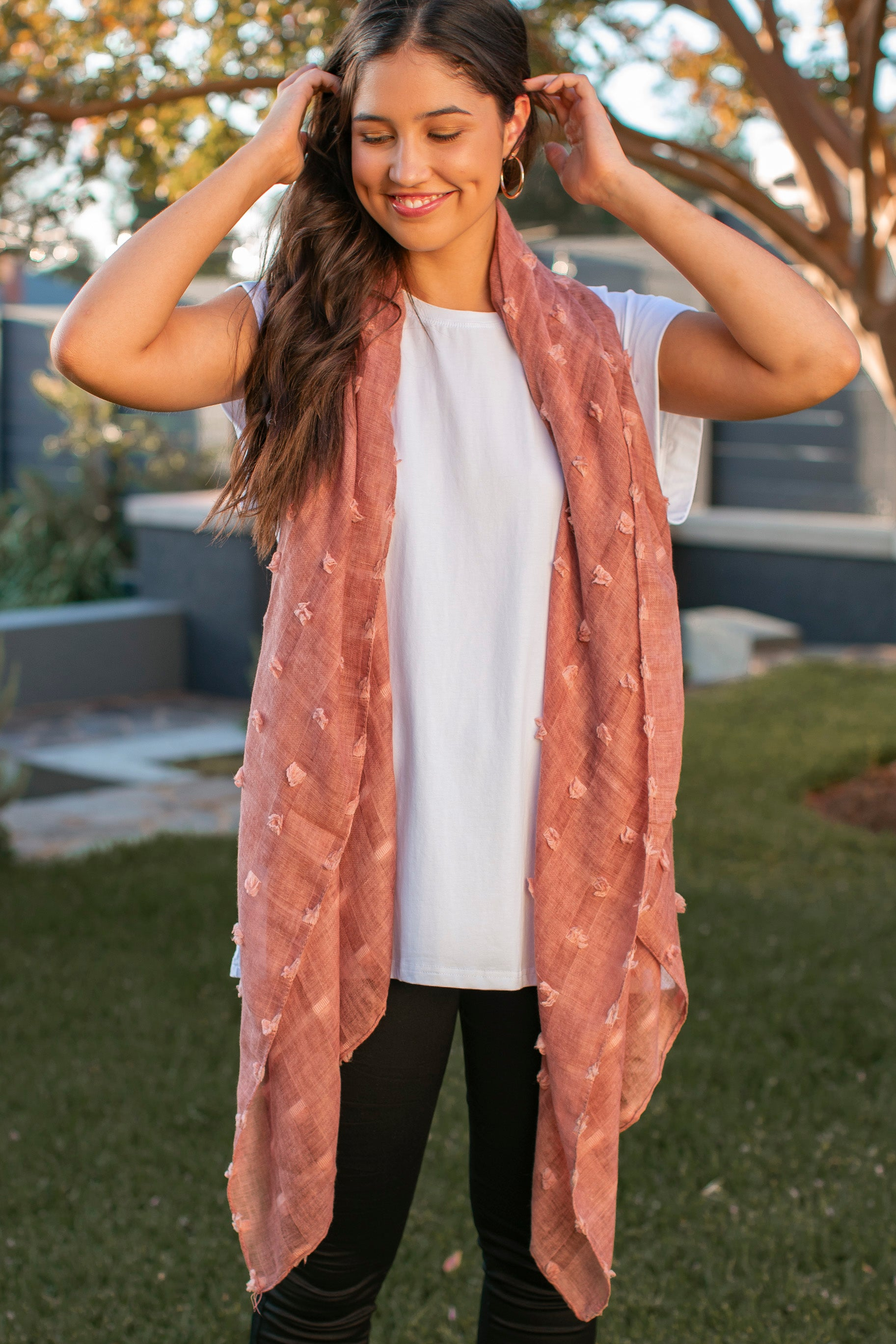 Ophelia Scarf in Rose