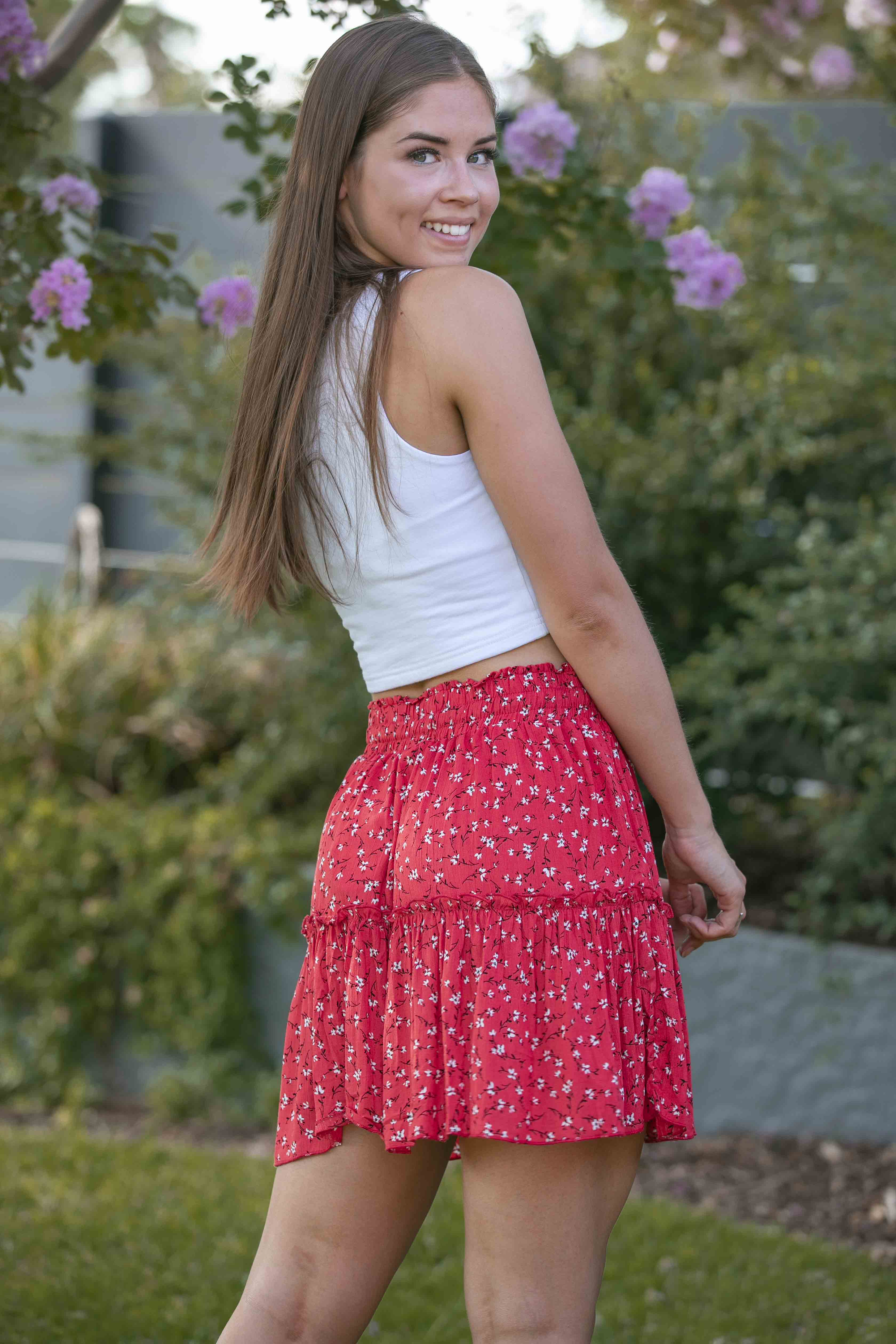 Cherry Skirt in Red