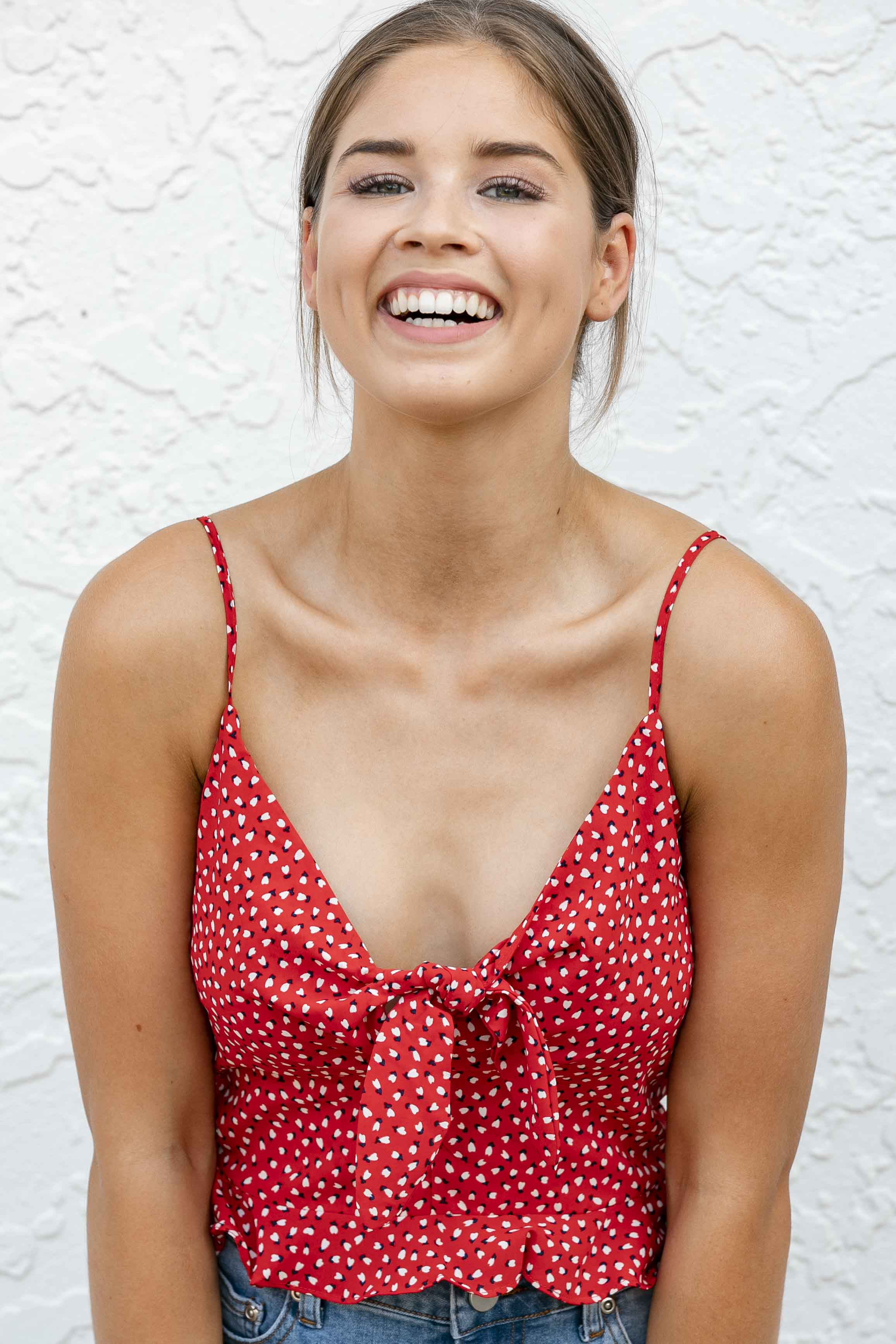 Becky Top in Red