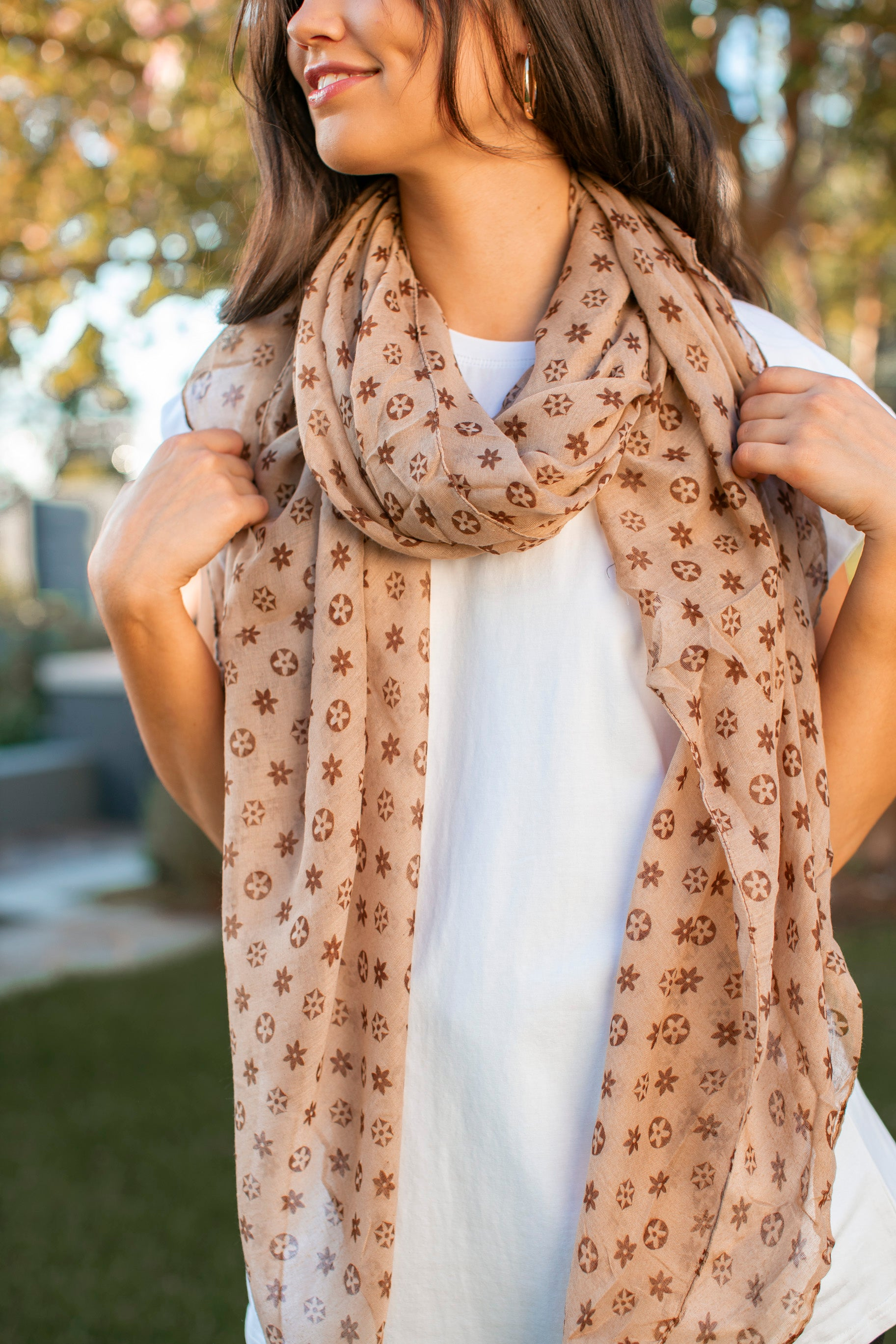 Miranda Scarf in Tan