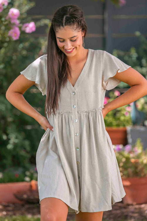 Narelle Dress in Sand