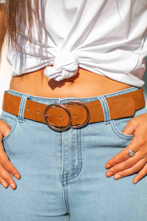 Jessica Belt in Tan