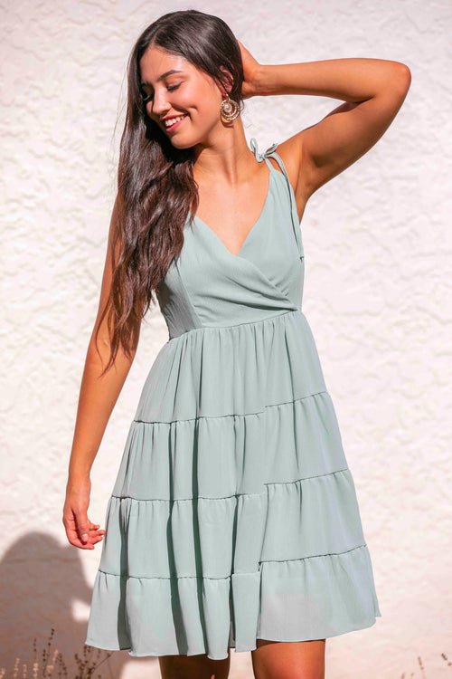 Tila Dress in Sage