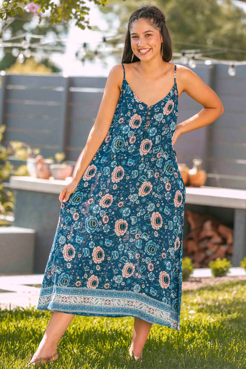 Layne Dress in Blue