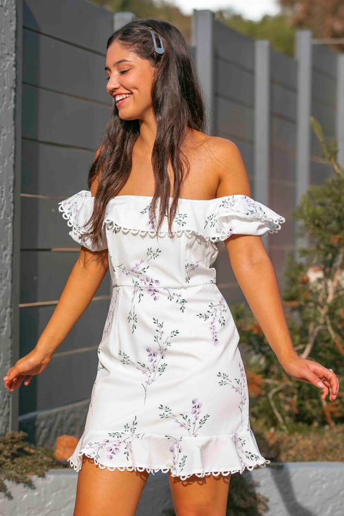 Janie Dress in White
