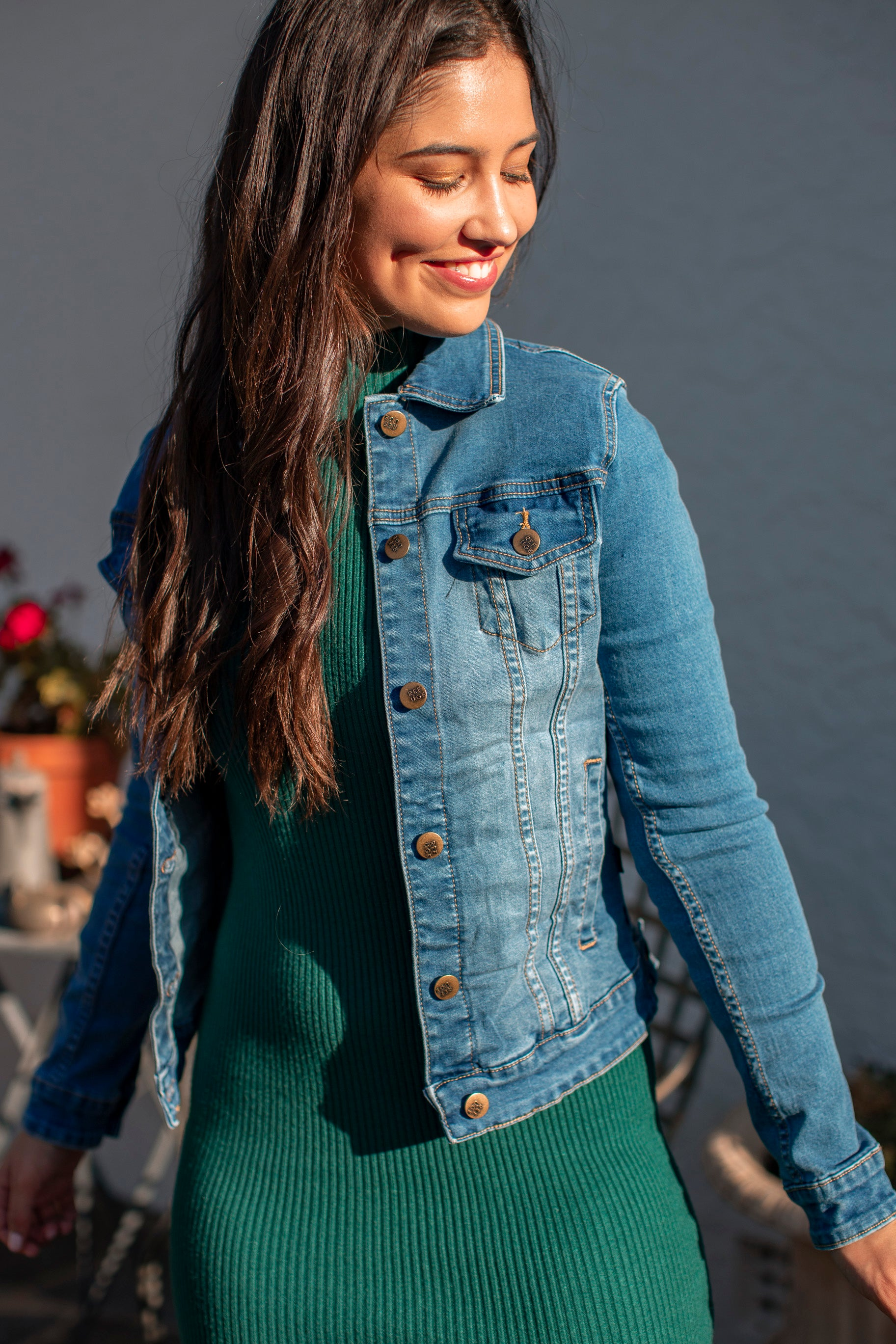 Jemma Jacket in Dark Denim