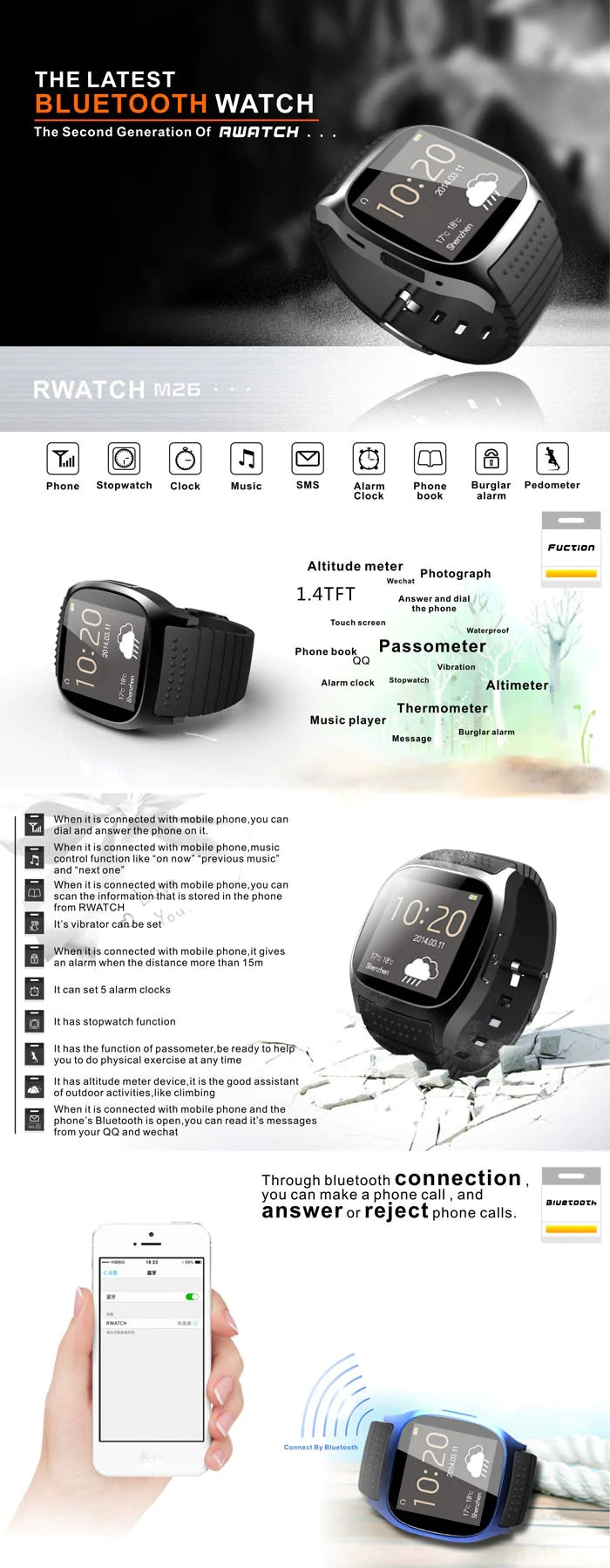 M26 Smart Watch Bracelet Waterproof Digital Sports Wrist Watches