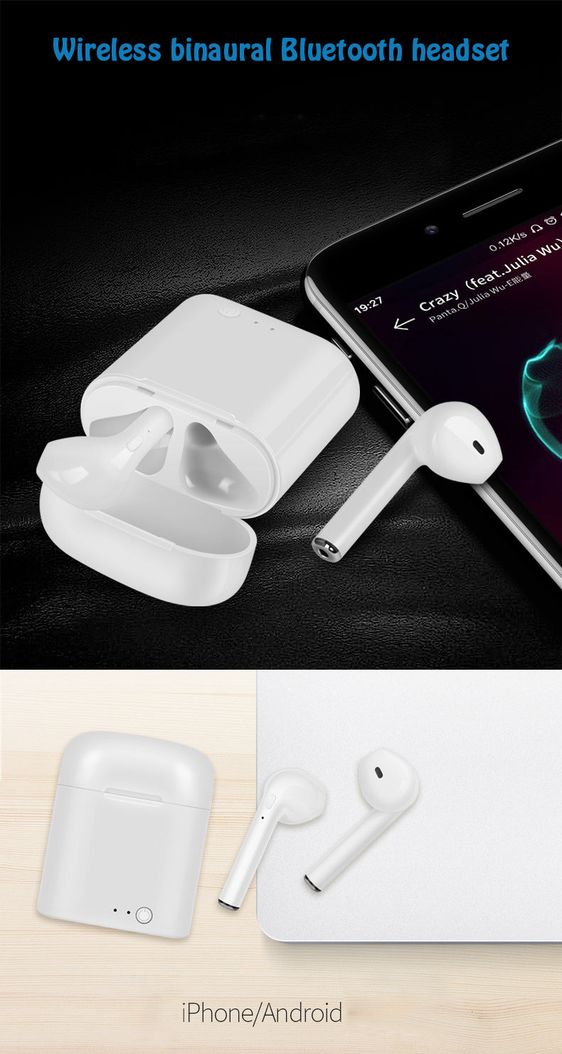 I7S TWS Ture Wireless Bluetooth 4.2 Earbuds Headphones for iOS and Android