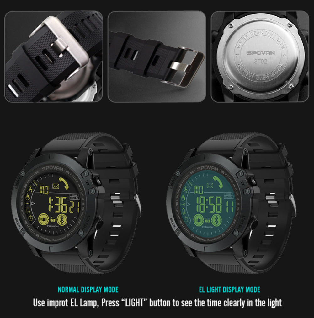 PR1 Smart Watch with Bluetooth 48-month Standby Time 50m waterpoof