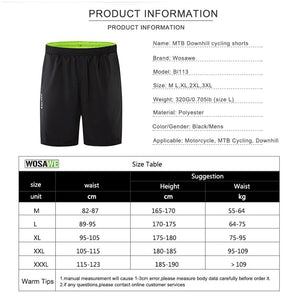 Cycling Baggy Padded Shorts