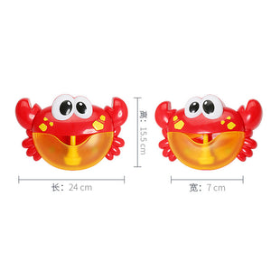 Bubble Maker Machine Crab Frog Music Bath Toy for Baby Kids