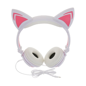 LED Lights Cat Ear 3.5mm Wired Headset