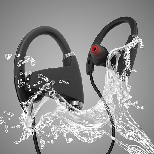 QBuds Bluetooth Wireless Headphones - Lightweight Bluetooth Earbuds - Sweatproof Bluetooth Headsphone - HD Quality Sound Earphones for the Gym - Stylish Wireless Earbuds for your Workout and Exercise