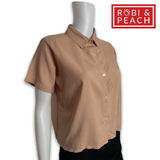 Big Plain Polo Button Down - Robi & Peach
