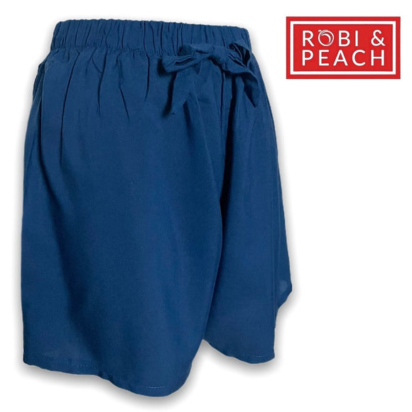 Robi & Peach - Venice#2 Plain Big Size Challis Shorts for Women | Plus Size Stretchable