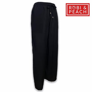 "Joey Rayons Challis Plain Square Pants with Side Pockets (Fit Up to 36"" Waist) 