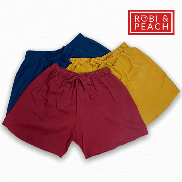 Robi & Peach - Venice 2 Big Size Challis Shorts for Women | Plus Size Stretchable