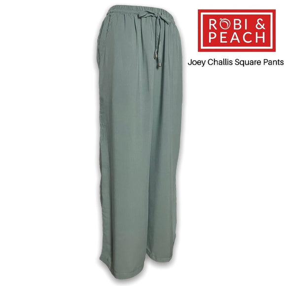 Joey Rayons Challis Plain Square Pants with Side Pockets (Fit Up to 36