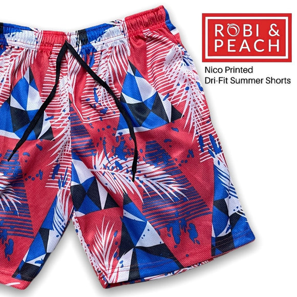 Nico Printed Dri-Fit Summer Shorts for Men