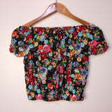 Shantel Printed Off-Shoulder Crop Top (AR)