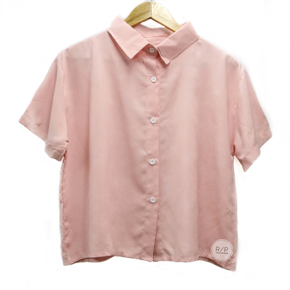 Big Polo Button Down Plain - Robi & Peach
