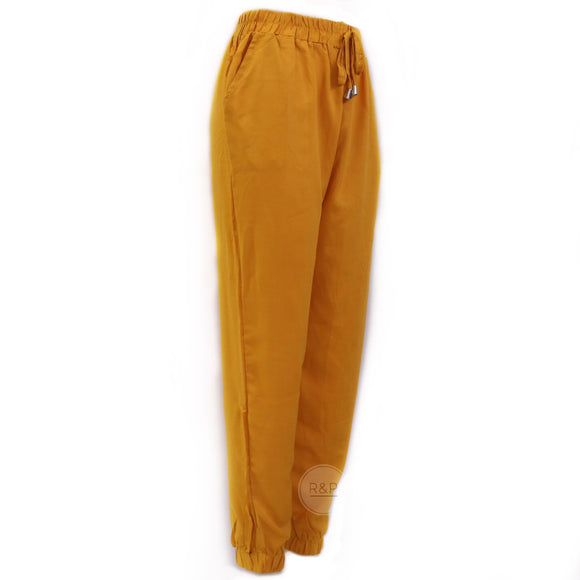 Women Challis Ankle Pants - Robi & Peach