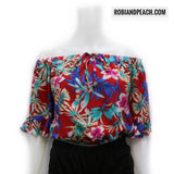 Iya Off Shoulder Printed (AR) - Robi & Peach