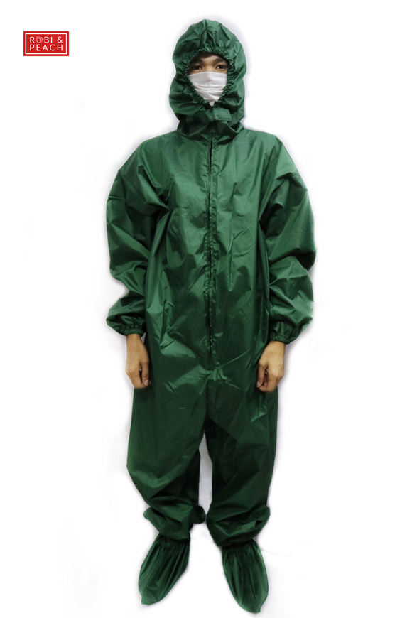 Hazmat Suit - Taffeta with Silver Back Lining (WF) - Robi & Peach