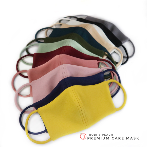 Robi & Peach Premium Washable Mask with Inside Pocket (LM) - Robi & Peach