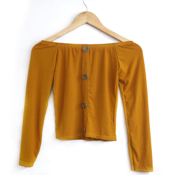 Irish Button Knitted L/S - Robi & Peach