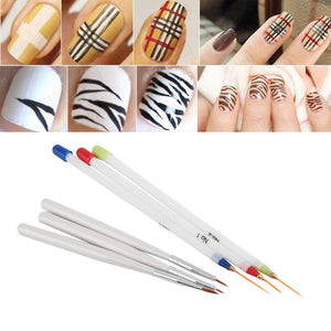 6Pcs Acrylic French Nail Art Liner Painting Drawing Pen Brush Tool Kit Painting Striping nail polish UV Gel Pen Nail Brush Set