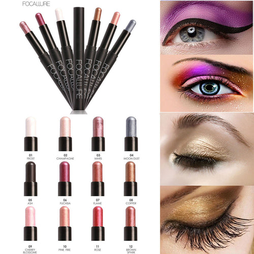 2017 New 1pc Beauty Highlighter Eyeshadow Pencil Cosmetic Glitter Eye Shadow Eyeliner Pen #622