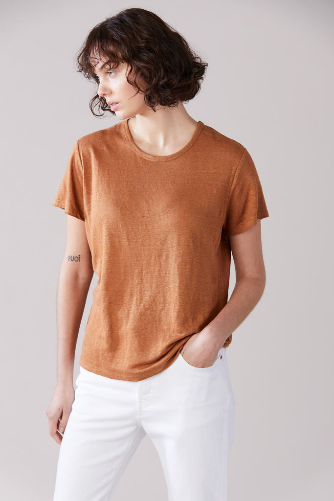 Essential Linen T-Shirt - Tan