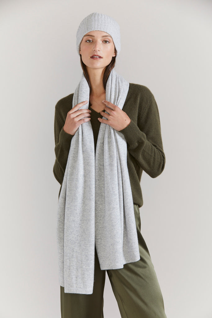 Cashmere Scarf - Silver Marle