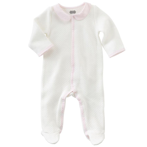 Pink Gingham Footed Sleeper