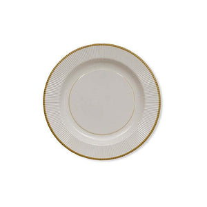 "8"" Classic Gold Rimmed Salad Plates---It's Paper Y'all!"