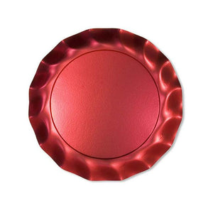 "10.6"" Red Satin Dinner Plates---It's Paper Y'all!"