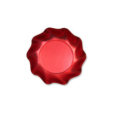 "7.3"" Red Satin Appetizer/Dessert Bowls---It's Paper Y'all!"